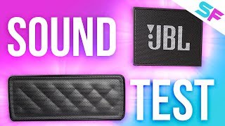 AmazonBasics Portable Speaker (BSK30) vs JBL Go - Sound Test