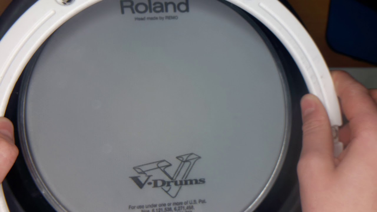 how to replace your mesh head on a roland pdx 8 drum pad youtube. Black Bedroom Furniture Sets. Home Design Ideas