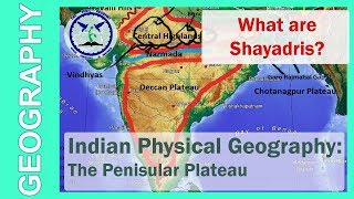 The Peninsular Plateau : Physical Geography of India in Hindi | SSC Geography | by TVA