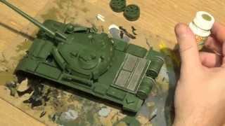 СБОРНЫЕ МОДЕЛИ Покраска модели танка Т-55АМ Часть 6