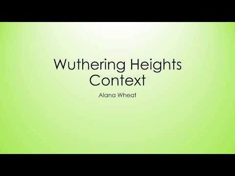 """wuthering heights analysis """"terror made me cruel"""" in emily bronte's novel of gothic fiction, wuthering heights, bronte presents an almost convoluted idea of a supernatural role which would begin to play a significant."""