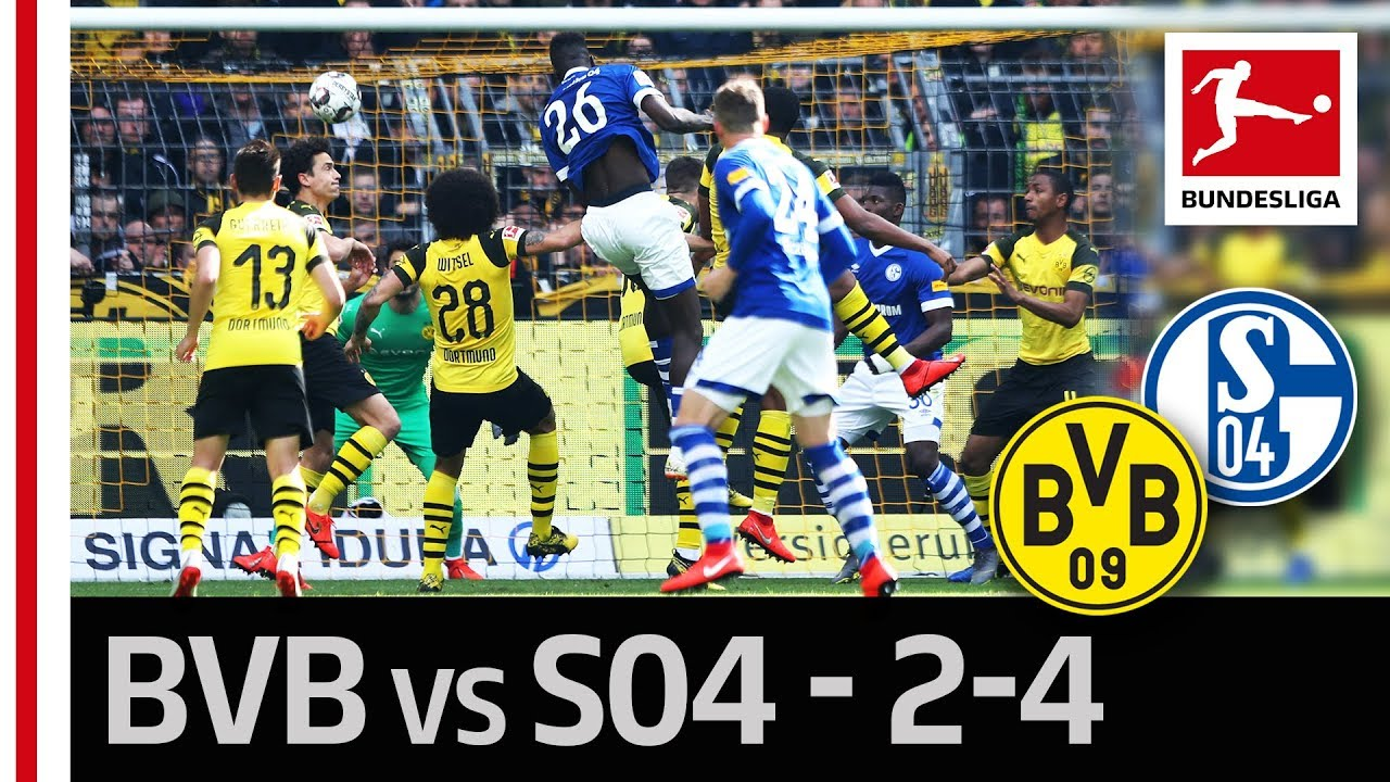 Borussia Dortmund Vs Fc Schalke 04 I 2 4 I Gotze And Caligiuri S Wonder Goals In Spectacular Derby Youtube