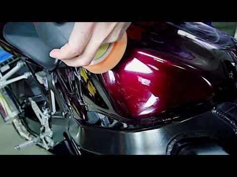 How To: Rotary Polishing Motorcycle - GSXR Chemical Guys Detailing Car Care Flex PE14-2