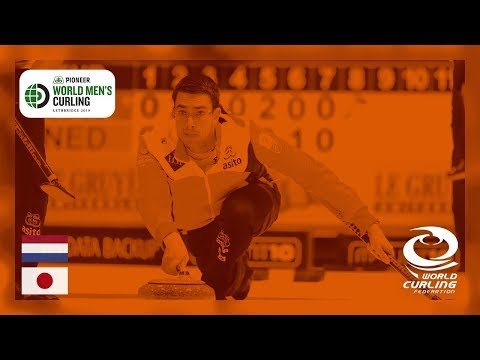 Netherlands v Japan - round robin - Pioneer Hi-Bred World Men's Curling Championships 2019