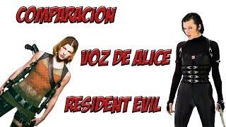 Comparacion doblaje latino de Milla Jovovich en Resident Evil