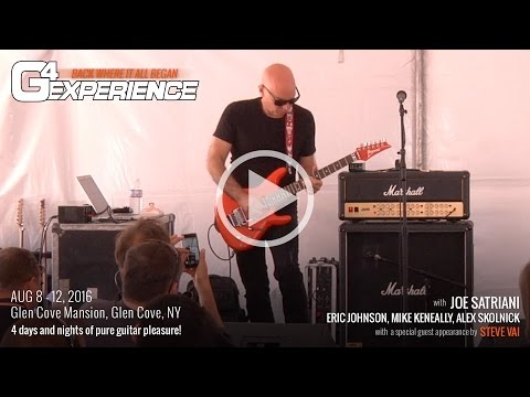 Joe Satriani invites you to G4 Experience 2016 - More about Glen Cove Mansion