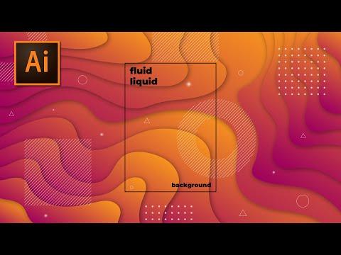 Tutorial Cara Membuat Modern Abstract Wave Paper Cut Fluid Liquid Background Adobe Illustrator CC thumbnail
