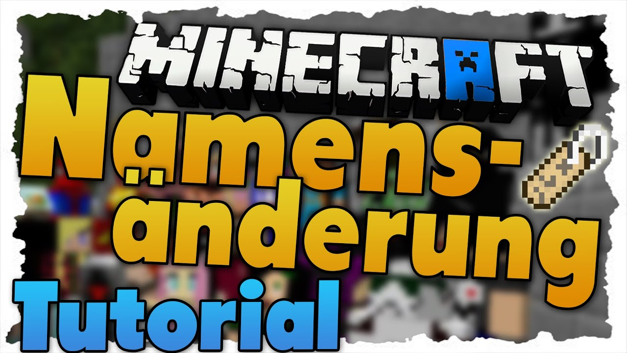Minecraft NAMEN ÄNDERN Tutorial Namensänderungsfeature YouTube - Minecraft namen und skin andern