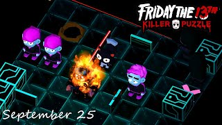 Friday the 13th Killer Puzzle Daily Death September 25 2020 Walkthrough
