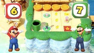 Super Mario Party - Watermelon Walkabout (Mario/Luigi vs Daisy/Peach) | MarioGamers
