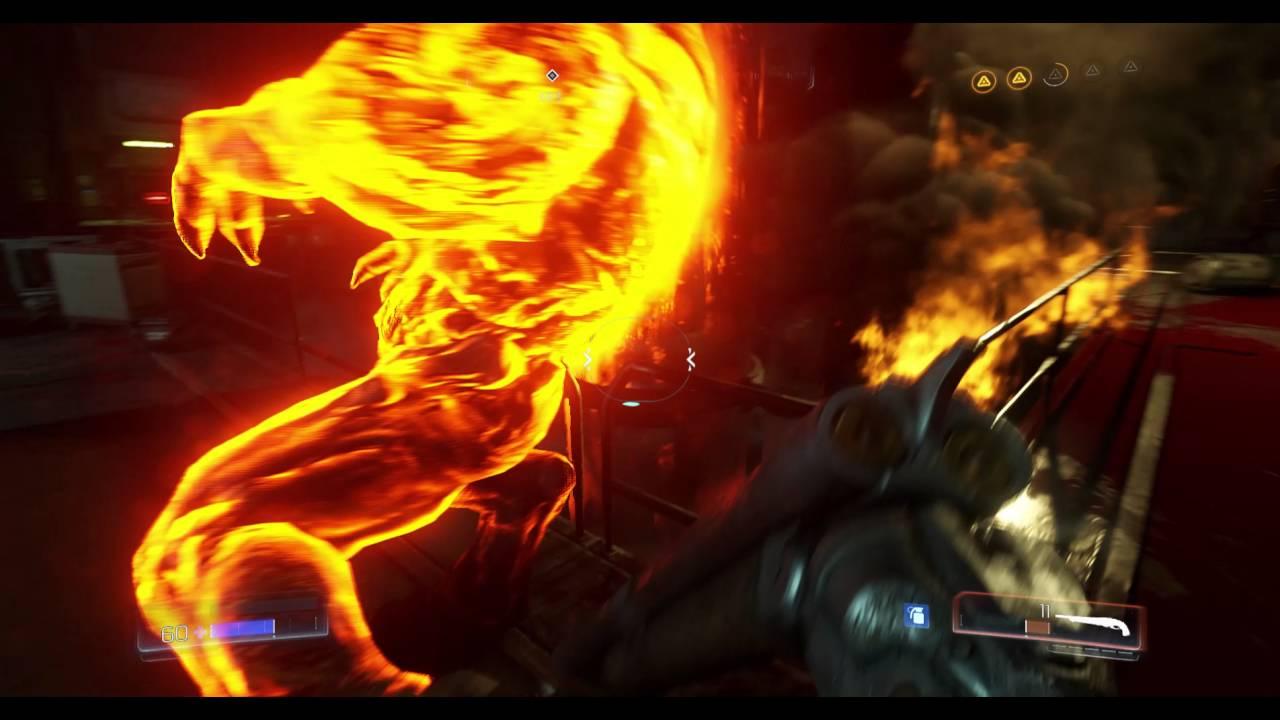Doom Glory Kill Pinky Cut Throat Slow Motion Youtube
