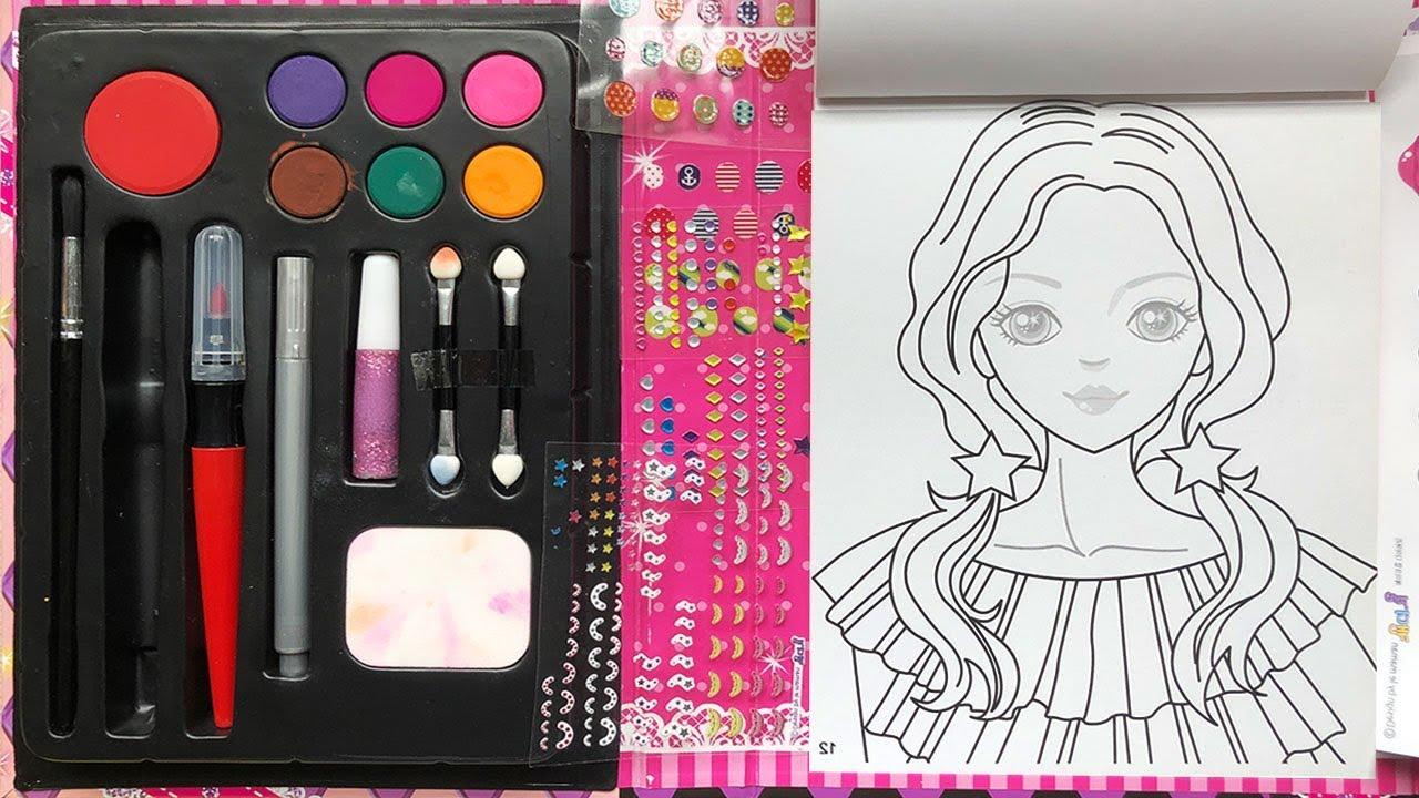 Đồ chơi SÁCH TRANG ĐIỂM CÔNG CHÚA HÀN QUỐC P3 sơn móng tay, mắt, tô son – Make up toys (Chim Xinh)