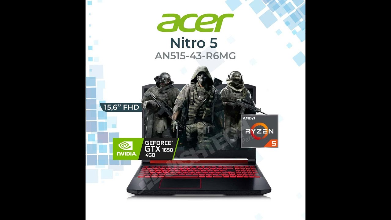 ACER NITRO 5 AN515-43-R6MG Unboxing & Review