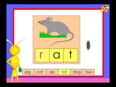 Kindergarten - simple words completion - worksheet - YouTube