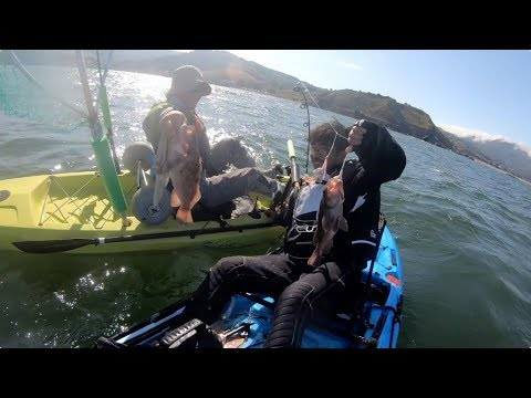 Kayak Fishing Rockfish / Halibut Combo SF Bay Area