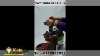 Masina electrica de tocat carne 800w 150kg/h Micul Fermier INOX