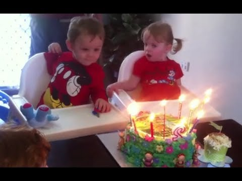 The Twins 2nd Birthday Opening Presents Birthday Cake