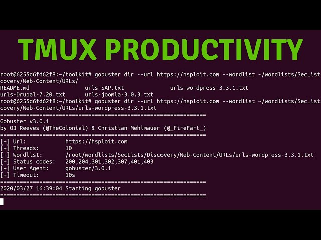 BugBountyToolkit - Running Multiple Sessions With Tmux