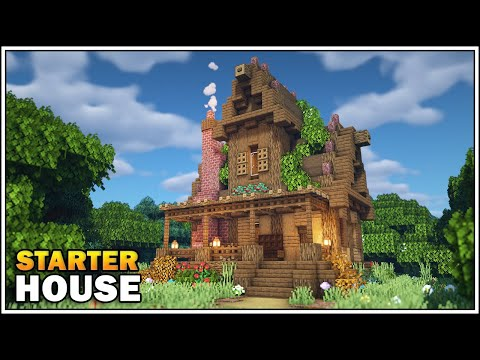Minecraft 1.15 - Survival Starter House Tutorial [How To Build]