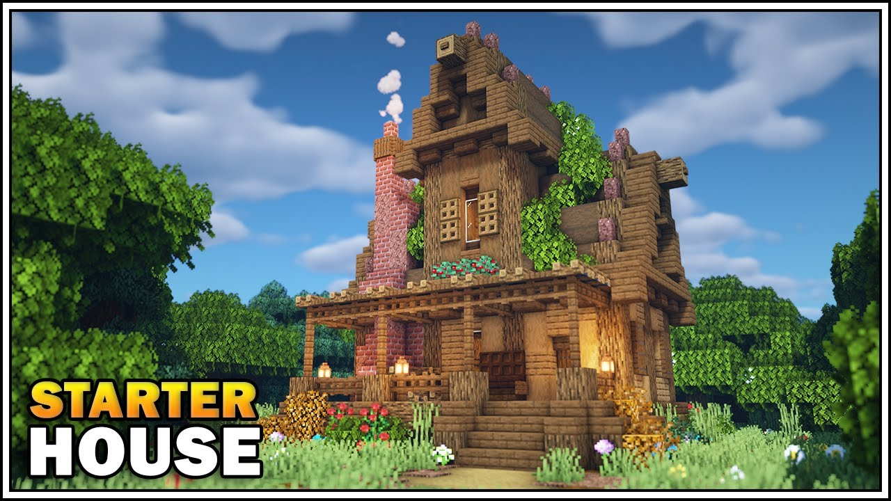Minecraft Survival Starter House Tutorial [How to Build]
