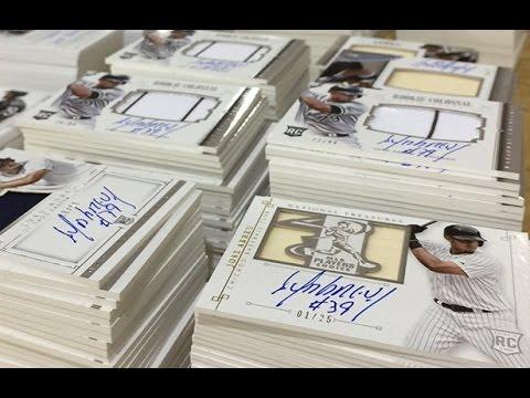 8ba34dc0c45 Box Busters  2014 Panini National Treasures baseball cards - YouTube