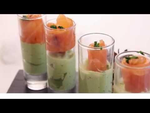 verrines saumon avocat ap ro facile et rapide youtube