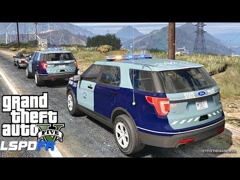 LSPDFR #503 MASSACHUSETTS STATE POLICE PATROL!! (GTA 5 REAL LIFE POLICE PC MOD) FAIL