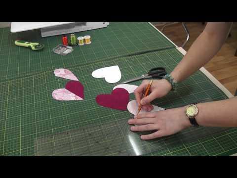 Мастер-класс Шьем декоративную подушку с сердечками