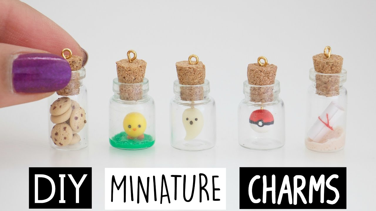 DIY MINI CHARMS IN A BOTTLE! - YouTube