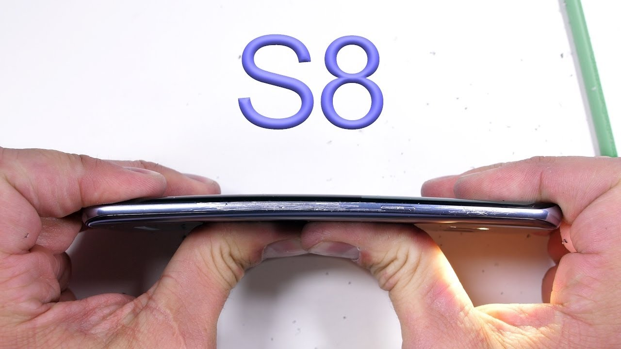 Проверка на прочность Samsung Galaxy S8 царапины, огонь, краш-тест