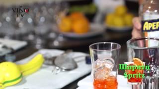 Приготовление коктейля Шпритц