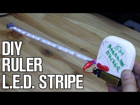 Tape Ruler with L.E.D. Stripe - DIY Life Hacks