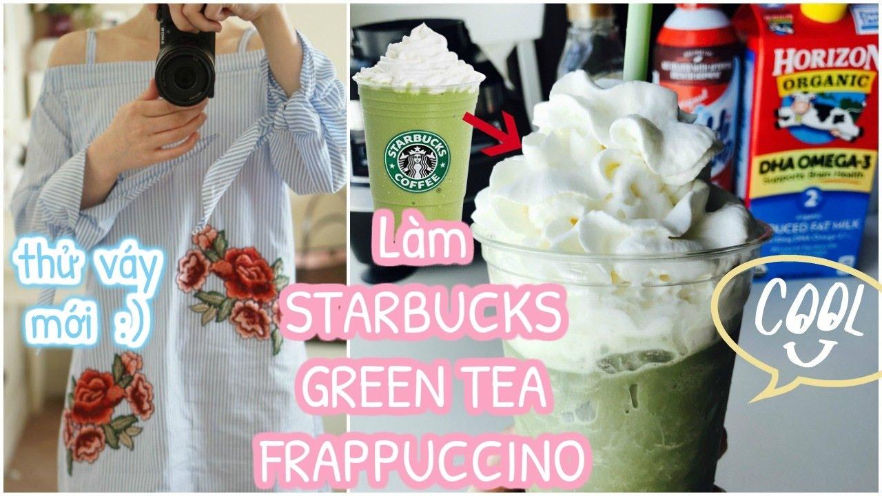 Cuối tuần làm STARBUCKS GREEN TEA FRAPPUCCINO ♥ Bánh chuối nướng bla bla…| mattalehang