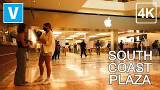 [4K] SOUTH COAST PLAZA - Walking around South Coast Plaza, Costa Mesa, Orange County - 4K UHD