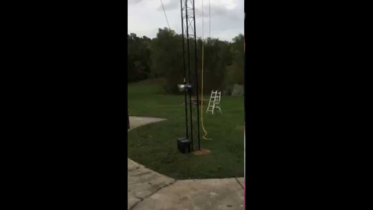 Ric Steel Custom Designed tilt over Rohn antenna tower with Remote !