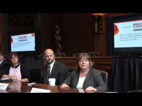 Jessica Nickel, Addiction Policy Forum and Patty McCarthy Metcalf, Faces & Voices of Recovery