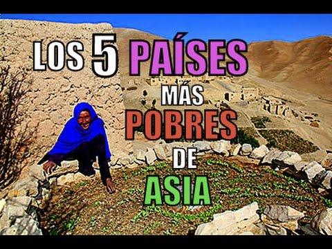 LOS 5 PAÍSES MÁS POBRES DE ASIA