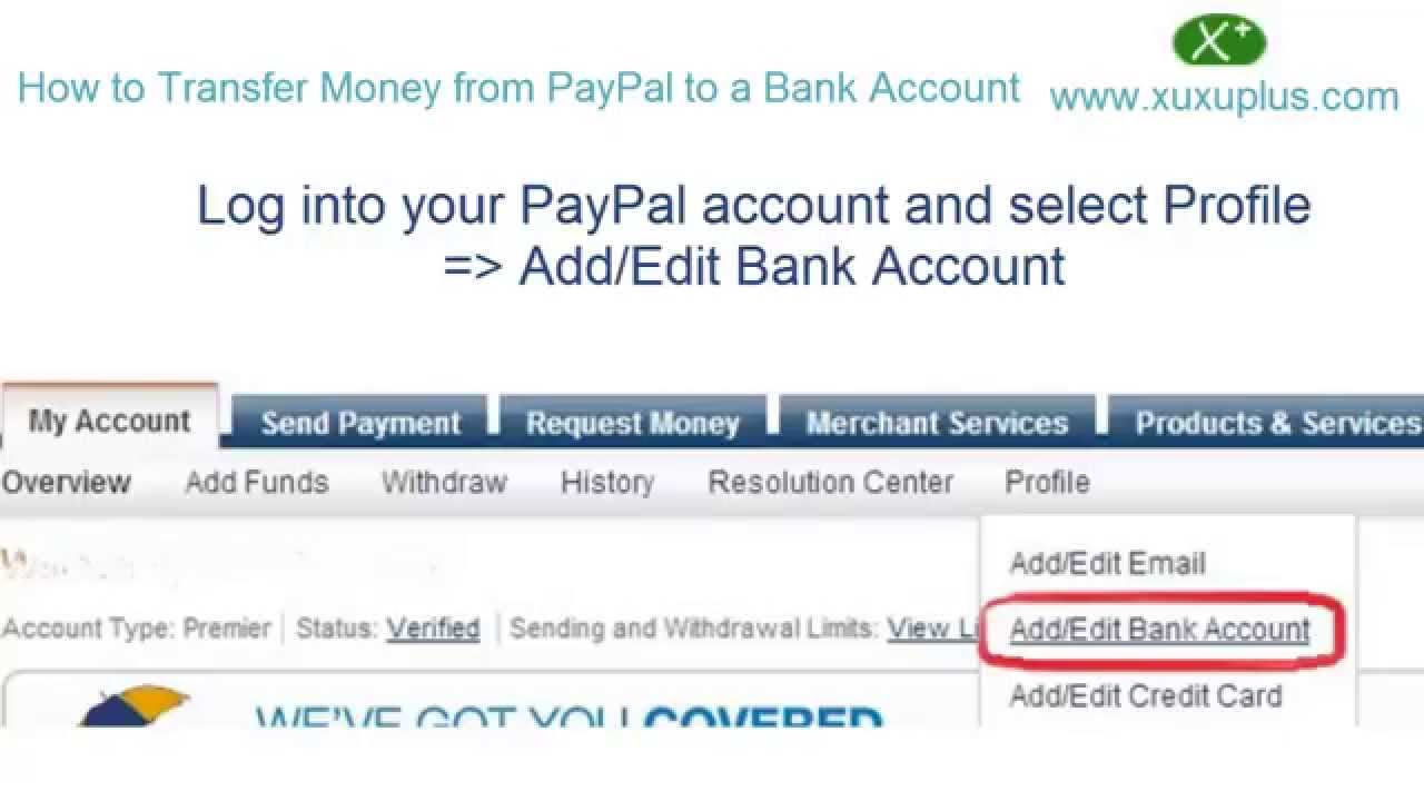 How to Transfer Money from PayPal to a Bank Account - YouTube