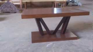 Modern Coffee Table Solid Teak Wood Vixidesign.com