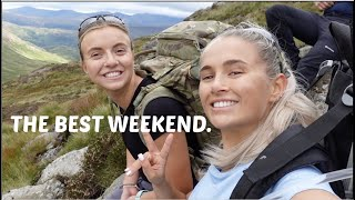 CAMPING VLOG⛺️❤️!!! SLEEPING ON THE SIDE OF THE MOUNTAIN | GYMSHARK AD | MOLLYMAE