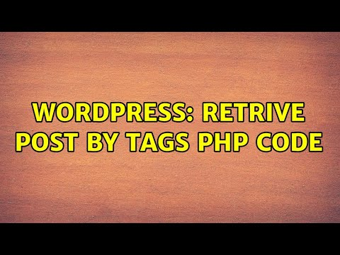 Download Wordpress: Retrive post by tags PHP code