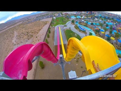Canyon Cliffs Freefall Body Water Slide (HD POV) - Wet n Wild Water Park
