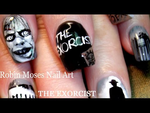 DIY Scary Halloween Nails | The Exorcist Nail Art Design Tutorial