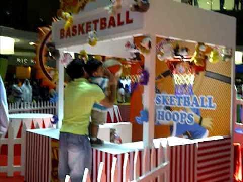 basketball at dubai mall eid carnival