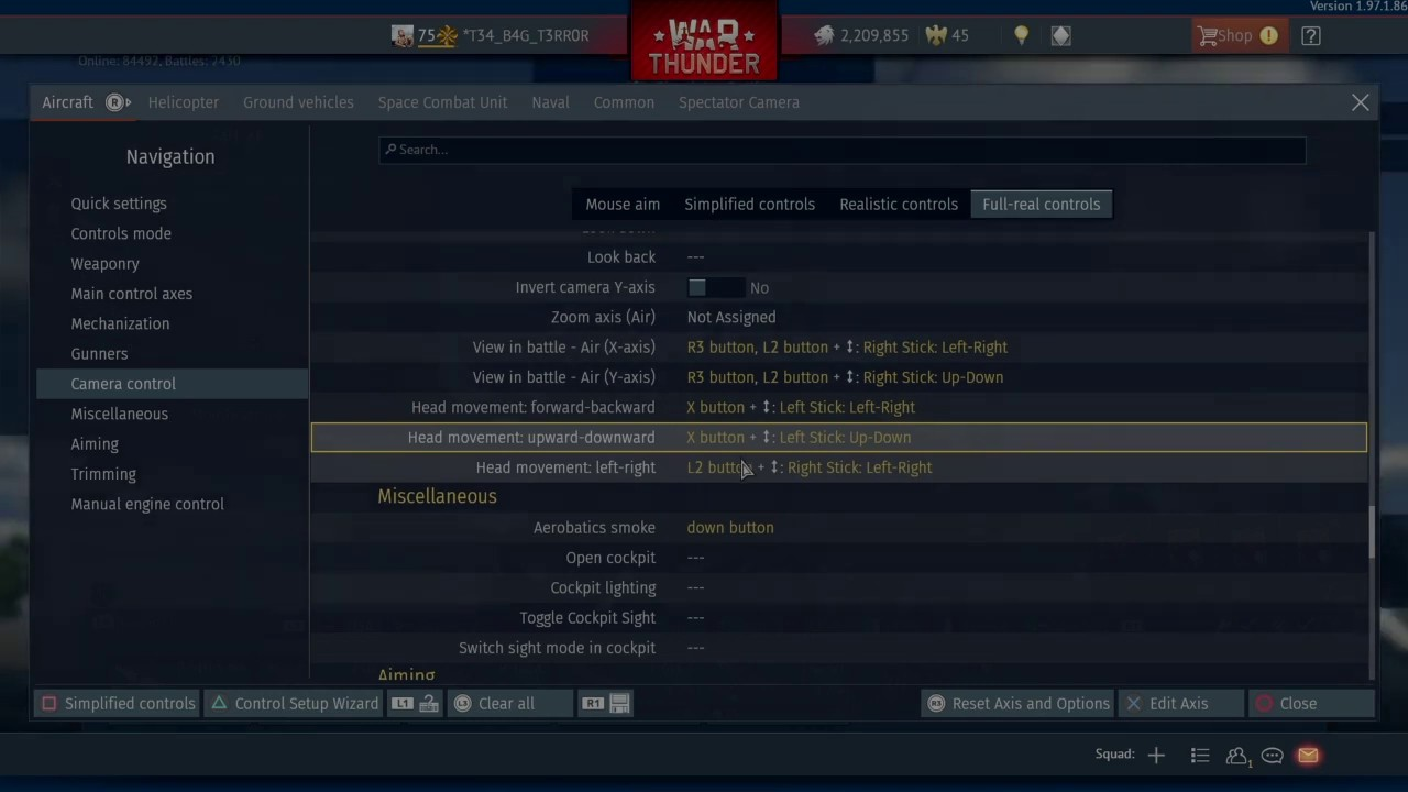 War Thunder SIM control setup *PS4*/*Xbox* Controller - Simple - YouTube