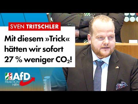 Mit diesem »Trick« hätten wir sofort 27 % weniger CO2! – Sven Tritschler (AfD)