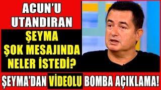 Acun Ilıcalı'ya Tv8 Canlı Yayında Şeyma Subaşı'dan Şok Mesaj! Şeyma'dan Bomba Açıklama Geldi!