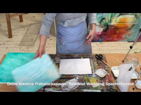 Welches Werkzeug, Spachtelmasse, Anfänger, acrylmalerei, Tutorial
