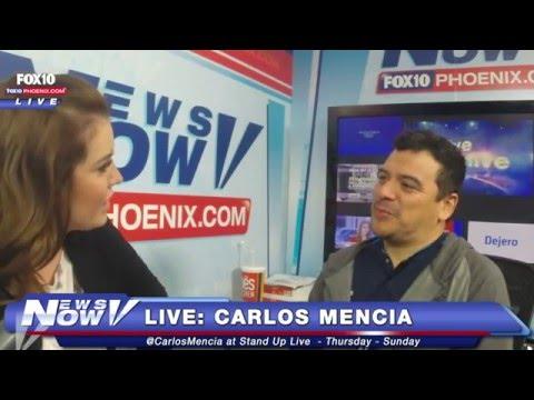 FNN: Carlos Mencia at Fox 10 Phoenix