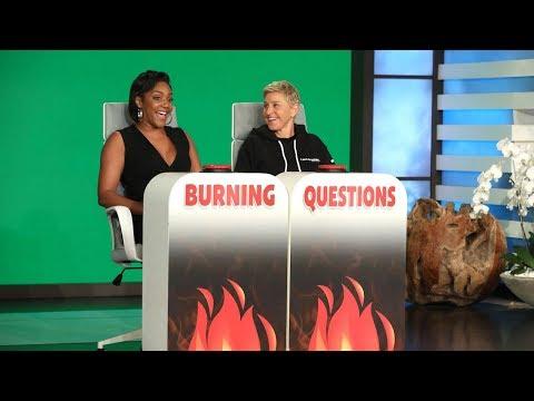 DJ Fountz - WATCH: Tiffany Haddish Answers Ellen Degeneres' Burning Questions